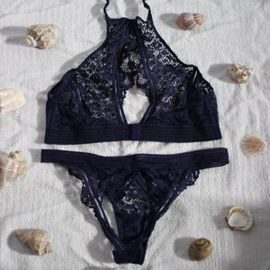 Victoria's Secret Navy Blue Lingerie Set